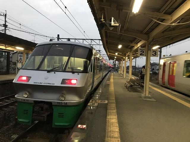 長洲駅に停車する有明