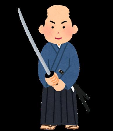 刀を持つ武士