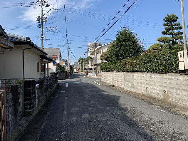 昭和町の町並み