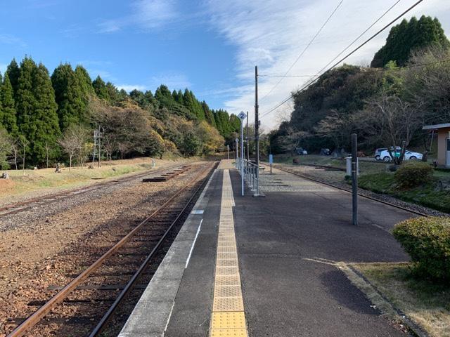 大畑駅ホーム