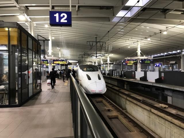 熊本駅の新幹線ホーム