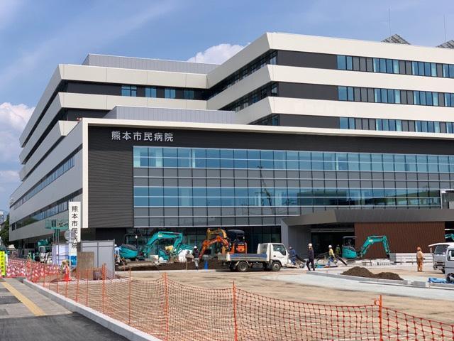 完成間近の新しい熊本市民病院