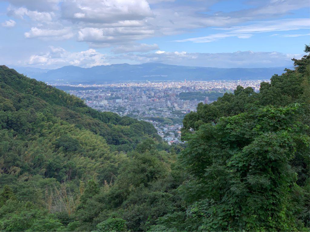 金峰山から望む熊本市