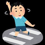 横断歩道の少年