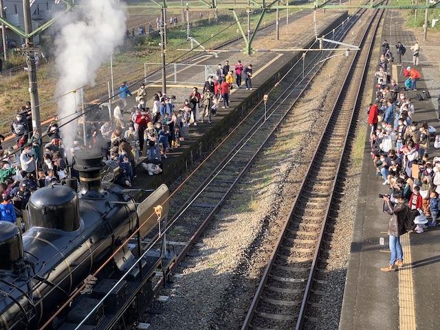 列車の上から撮影